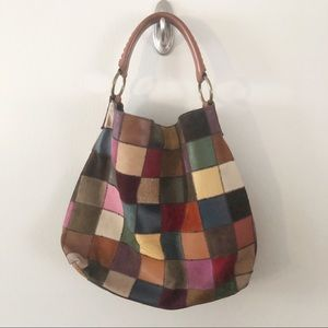 LUCKY BRAND | Vintage Style Patchwork Hobo Bag